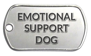 Emotional Support Dog tag / ESA tag for sale