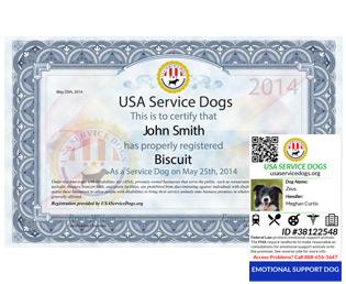 Emotional Support Dog Registration Usa Service Dogs