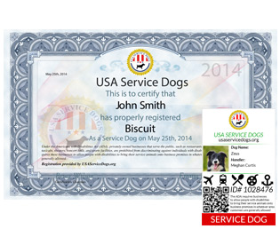 Usa Service Dog Registry Fake