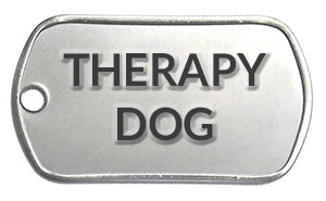 Therapy dog tag for sale