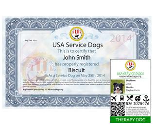 Therapy Dog Registration Usa Service Dogs