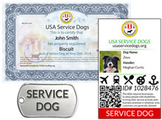 Service Dog Registration
